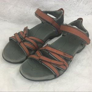 Teva Tirra Orange/ Grey Sport Sandals